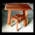 Wattle stools and dining table