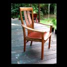 Lees dining chair wattle and morton bay ash